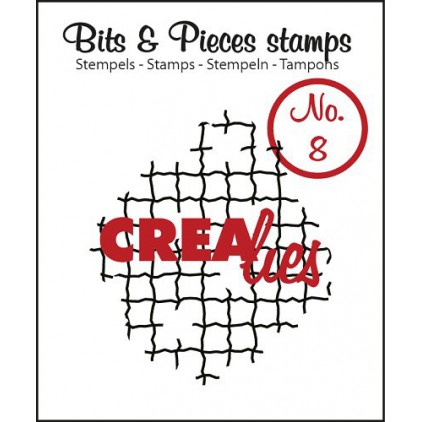 Clear stamp Crealies - Bits & Pieces no. 8 - Broken mesh