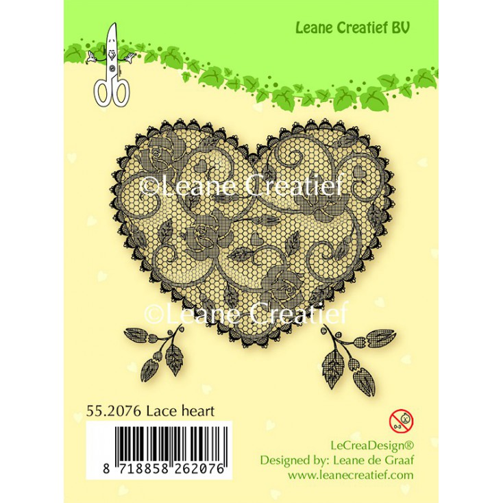 Set of clear stamps - Lace Heart
