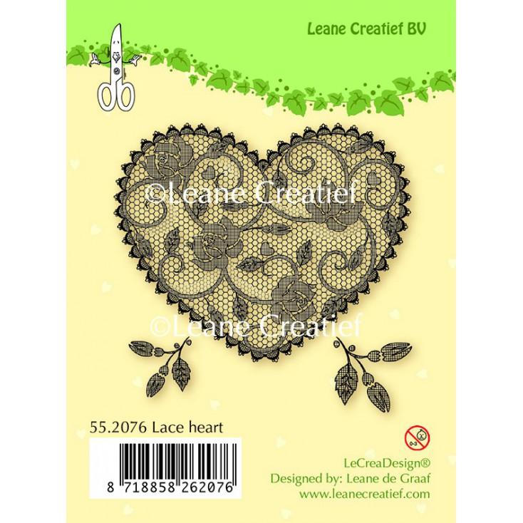Stempel silikonowy Leane Creatief- koronkowe serce