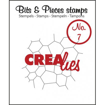 Clear stamp Crealies - Bits & Pieces no. 7 - Thin mosaic