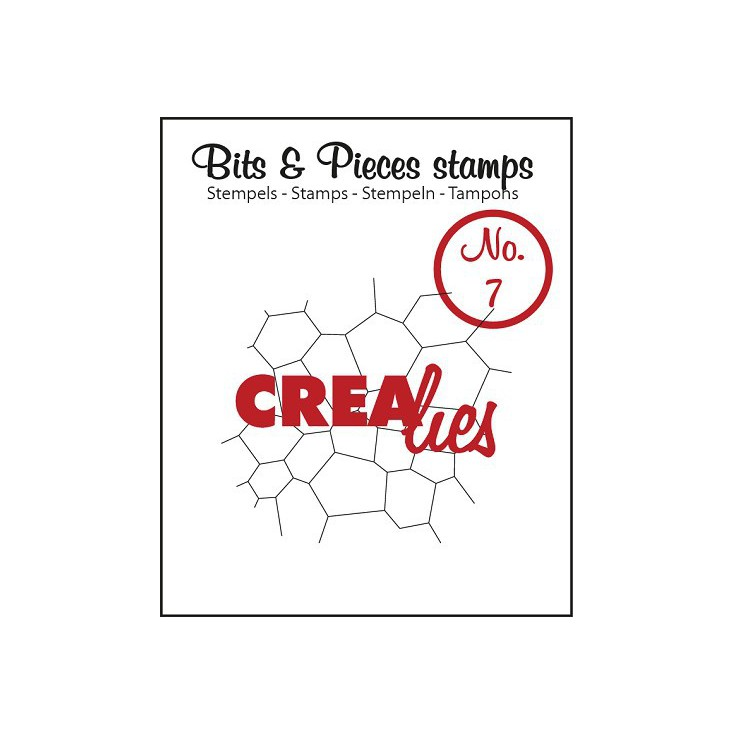 Stempel silikonowy Crealies - Bits & Pieces no. 7  - Thin mosaic