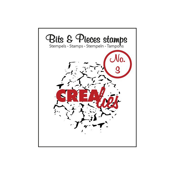 Stempel silikonowy Crealies - Bits & Pieces no. 3 - Crackle