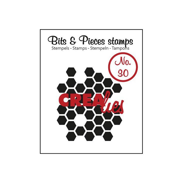 Stempel silikonowy Crealies - Bits & Pieces no. 30 - Honeycomb