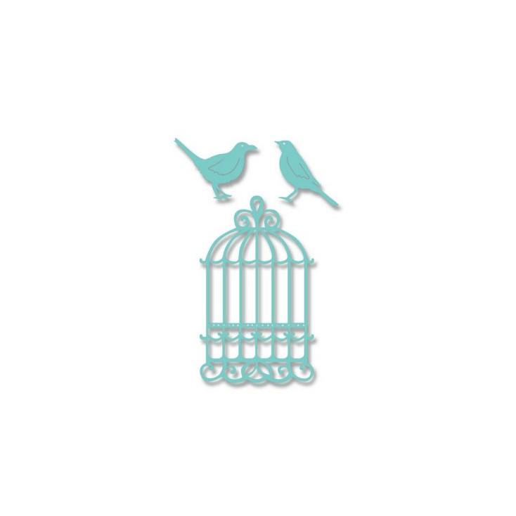 Sweet Dixie SDD026 - Wykrojnik - Klatka i ptaki
