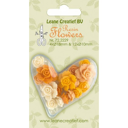 Lean Creatief - Resin Flowers - Roses in yellow colors