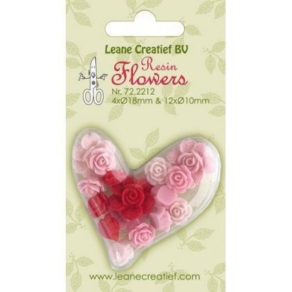Lean Creatief - Kwiaty z żywicy - Różyczki w tonacji różowej