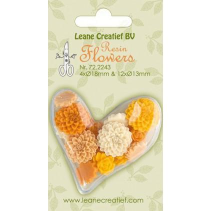Lean Creatief - Kwiaty z żywicy - Peonie w tonacji żółtej