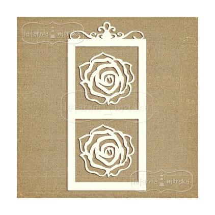 Latarnia Morska - Laser cut - Frame and roses