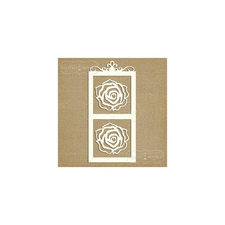 Latarnia Morska - Tekturka - Ramka i róże