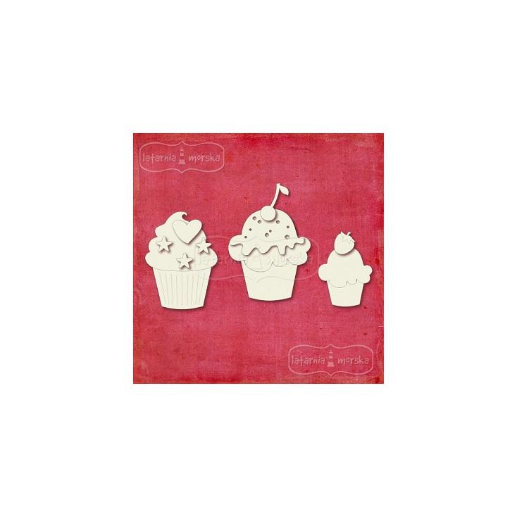 Latarnia Morska - Laser cut - Layered cupcakes - 3pcs