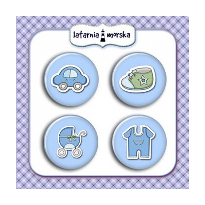 Selfadhesive buttons/badge - Baby Boy