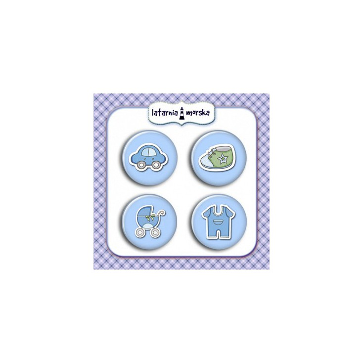 Selfadhesive buttons/badge - Baby Boy