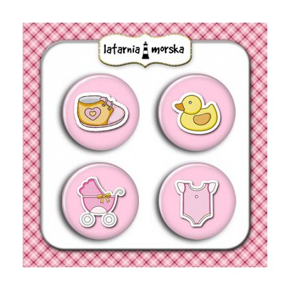Selfadhesive buttons/badge - Baby Girl
