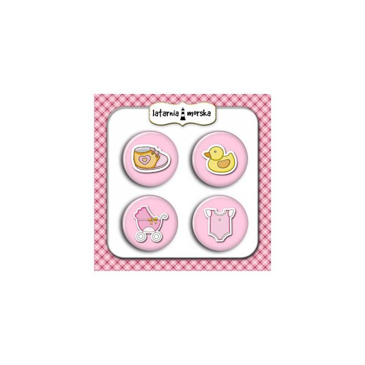 Selfadhesive buttons/badge - Baby Girl