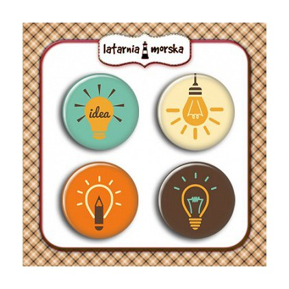 Selfadhesive buttons/badge - Light bulbs