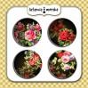 Selfadhesive buttons/badge - Sicret Garden 2