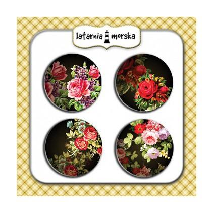Ozdoby samoprzylepne, buttony - Tajemniczy Ogród 2