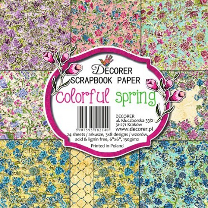 Decorer - Pad of scrapbooking papers - Colorful Spring