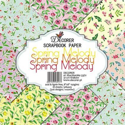 Decorer - Zestaw papierów do scrapbookingu - Wiosenna Melodia