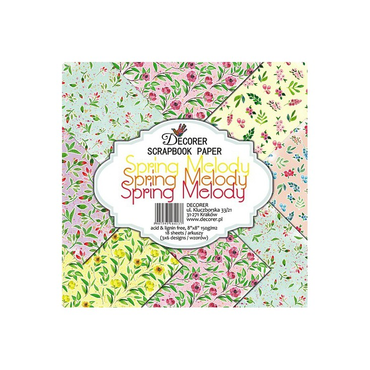 Decorer - Set of scrapbooking papers - Spring Melody
