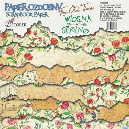 Decorer - Zestaw papierów do scrapbookingu - Dawne Czasy, Wiosna