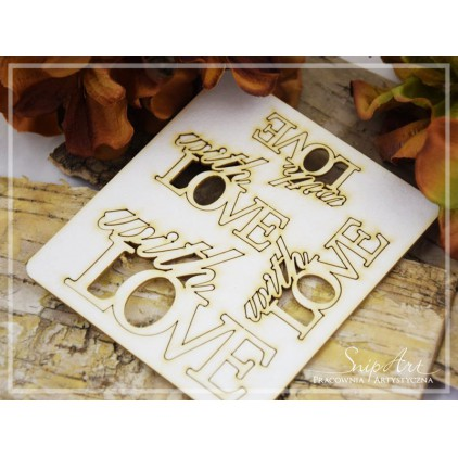 SnipArt - Laser cut inscription set - With love
