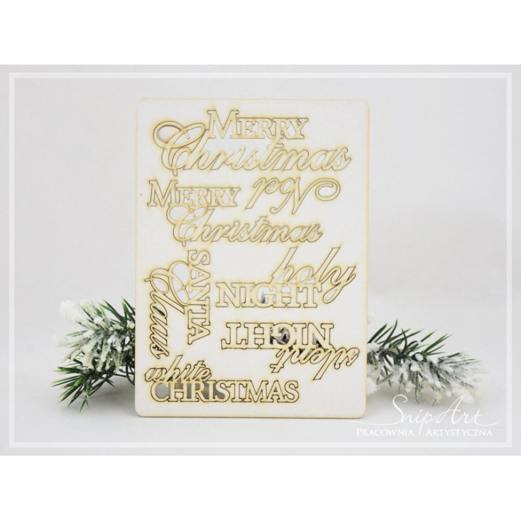 SnipArt - Laser cut inscription set - Merry Christmas