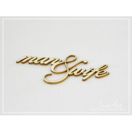 SnipArt - Laser cut inscription - Man and wife, small