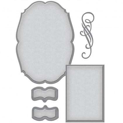 Spellbinders S6-082 - Die - Shapeabilities Classic Elegance Label