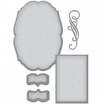 Spellbinders S6-082 - Wykrojniki - Shapeabilities Classic Elegance Label