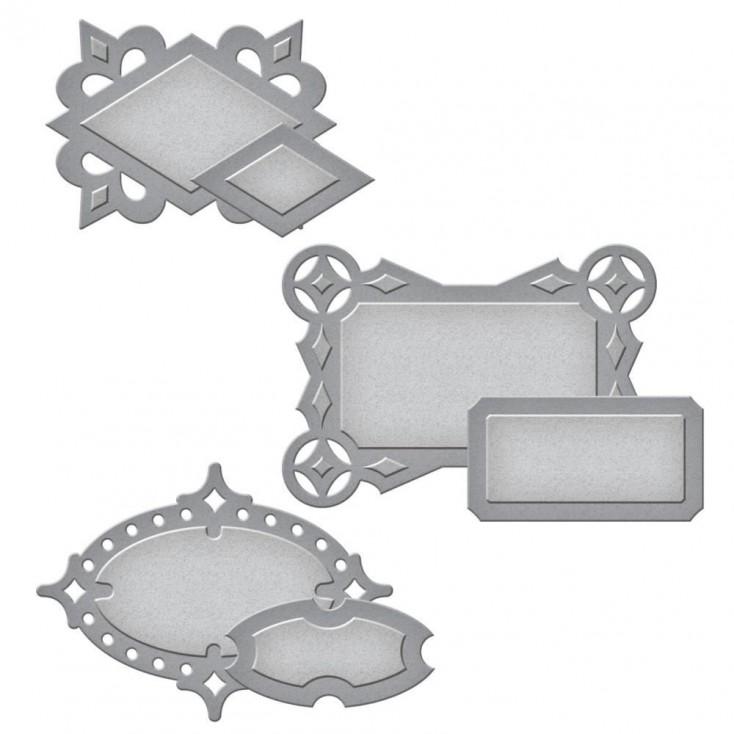 Spellbinders S4-613 - Die - Shapeabilities Circle Contempo Tags