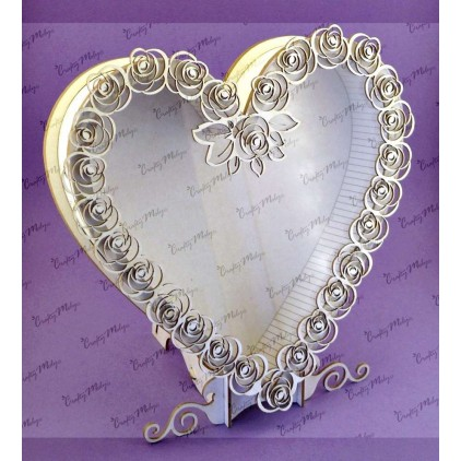 Shadow box - HEART - Crafty Moly