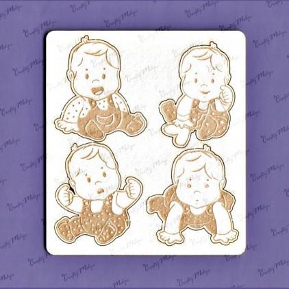 1178 laser cut, chipboard Baby set - 1 Crafty Moly