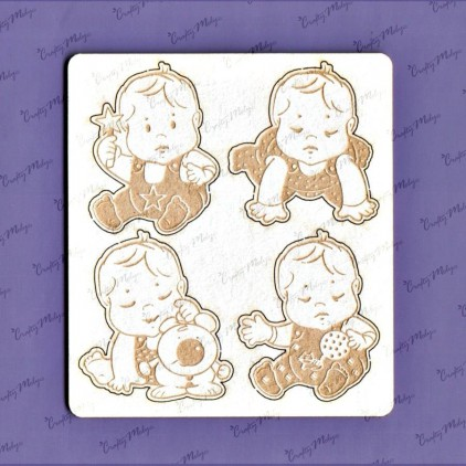 1177 laser cut, chipboard - Baby set - 2 - Crafty Moly