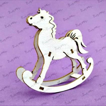 cardboard element rocking horse 3D - Crafty Moly 742