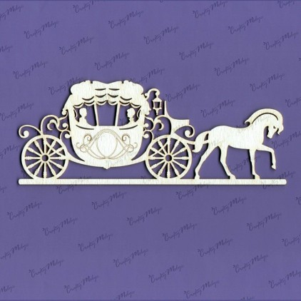 laser cut, chipboard - Carriage Crafty Moly 431