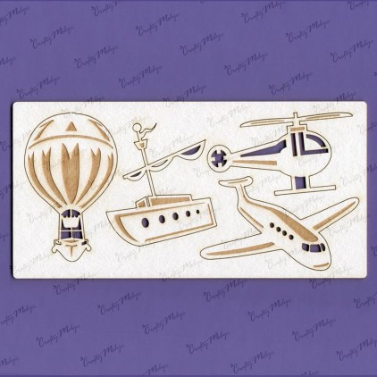 Crafty Moly - Cardboard element - Fly and swim set