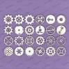 Crafty Moly - Cardboard element - Gears