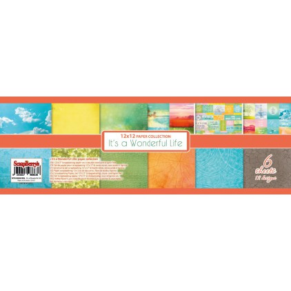 ScrapBerry's - Set of scrapbooking papers - It's a Wonderful Life