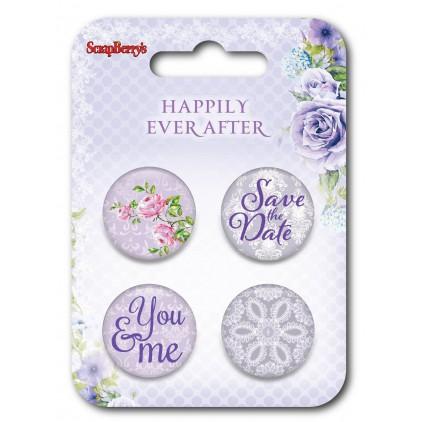 ScrapBerry's - Ozdoby samoprzylepne, buttony - Happily Ever After 3