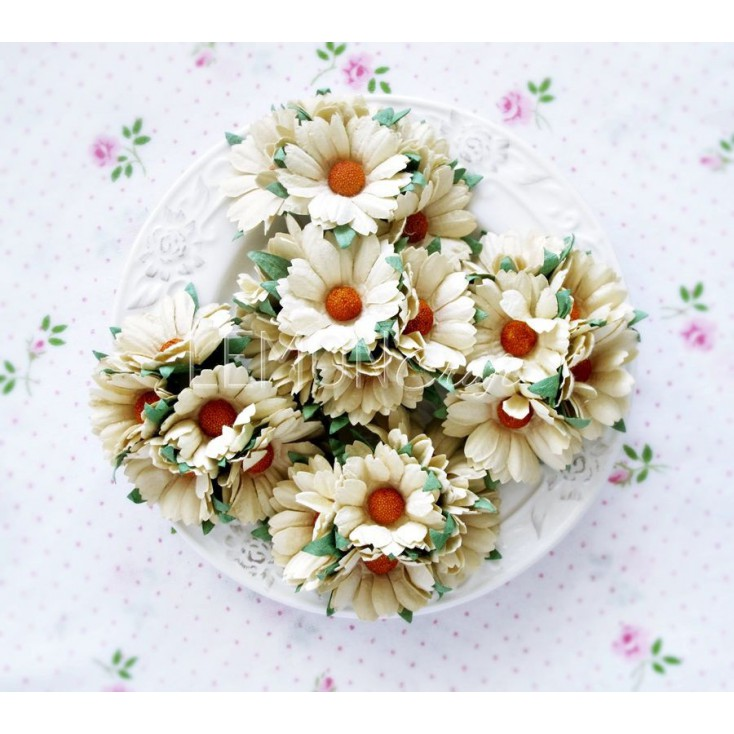 Daisy flower set - beige - 25 pcs