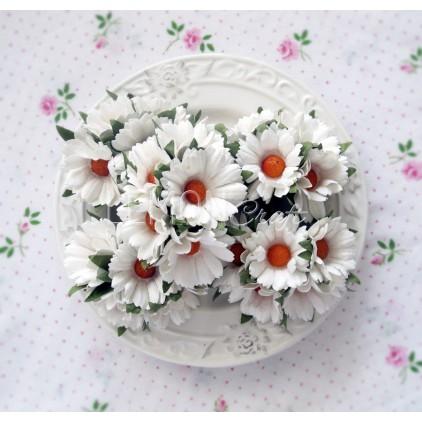 Daisy flower set - white - 25 pcs