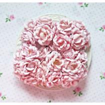 Open roses flower set - pink - 25 pcs