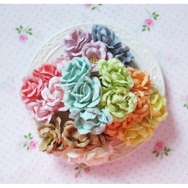 Zestaw papierowych róż - miks 2 - 25 sztuki