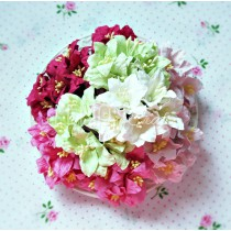 Paper lily flower set - mix 3 - 50 pcs