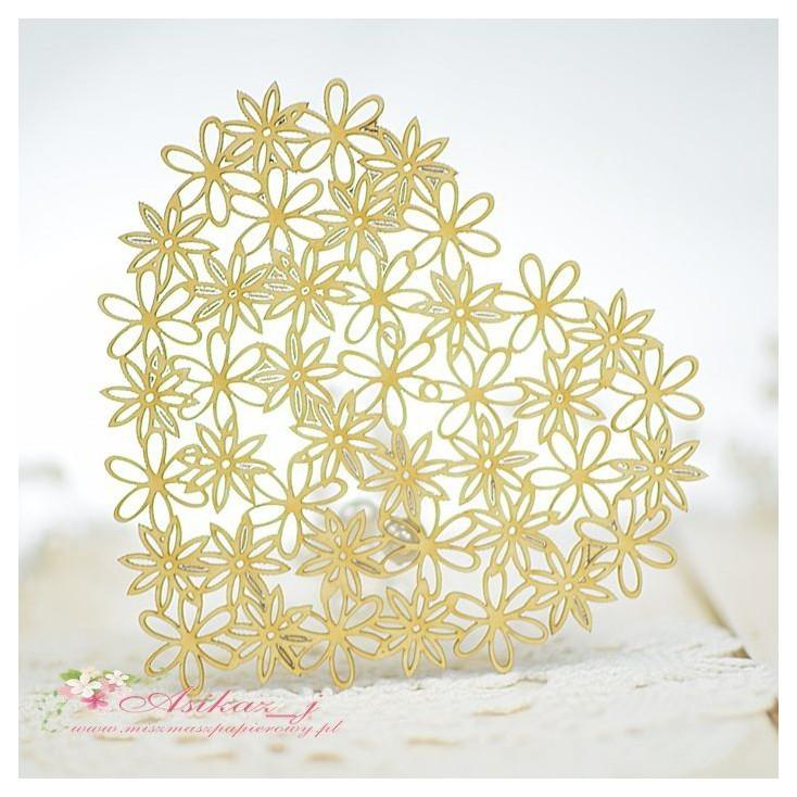 Miszmasz Papierowy - Tekturka - Serduszko z kwiatuszkami 3