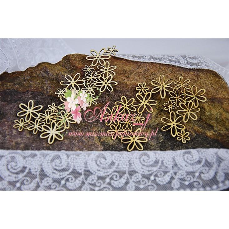 Miszmasz Papierowy - Cardboard element - Flower background