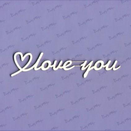 Crafty Moly - Cardboard element - Love You