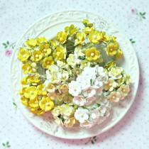 Zestaw papierowych kwiatuszków - Sweetheart mix 3 - 100 sztuk