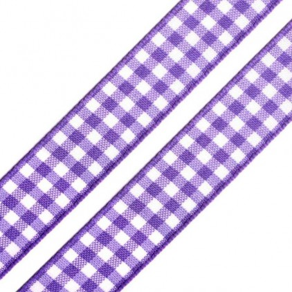 Checkered ribbon - 1 meter - light violet
